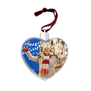 Елочная игрушка в форме сердца