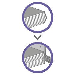 брошюровка на скобу - обрезка блока