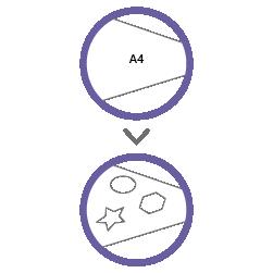 контурная резка А4 без материала