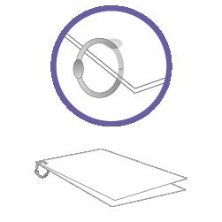 постпечатная обработка Установка кольца