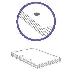 постпечатная обработка пробивка двух отверстий до 100 листов