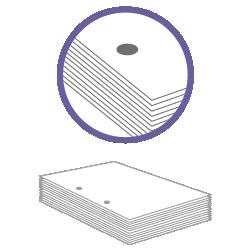 постпечатная обработка пробивка двух отверстий до 200 листов