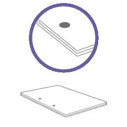 постпечатная обработка пробивка двух отверстий до 30 листов