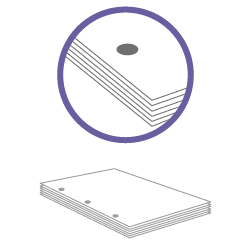 постпечатная обработка пробивка трех отверстий до 100 листов