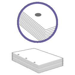 постпечатная обработка пробивка трех отверстий до 200 листов