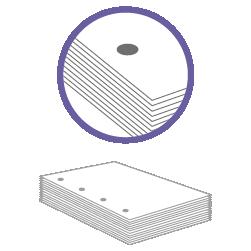постпечатная обработка пробивка четырех отверстий до 200 листов