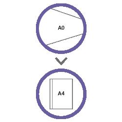 постпечатная обработка фальцовка А0 в А4