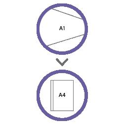 постпечатная обработка фальцовка А1 в А4