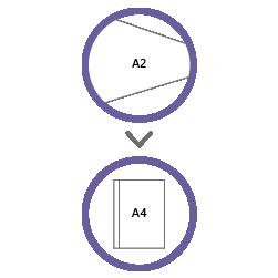 постпечатная обработка фальцовка А2 в А4
