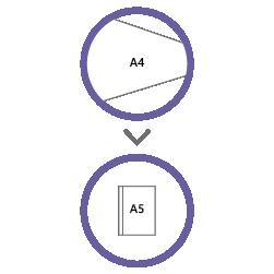 постпечатная обработка фальцовка А4 в А5
