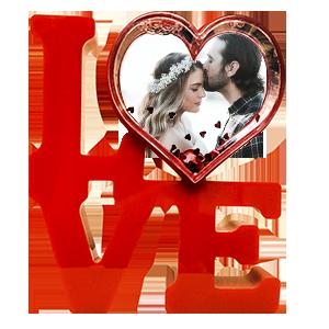 Рамка Love водяная с сердечками